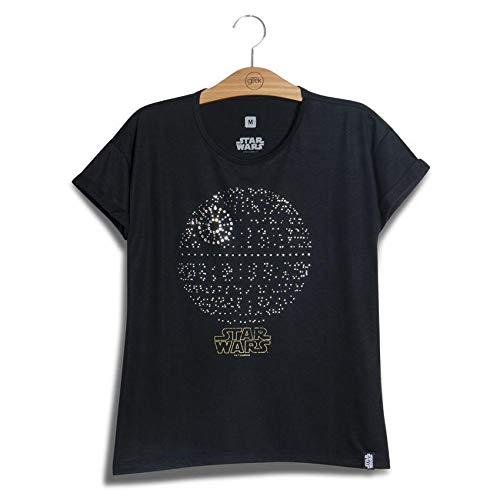 Camiseta Feminina Swarovski Estrela Da Morte Star Wars