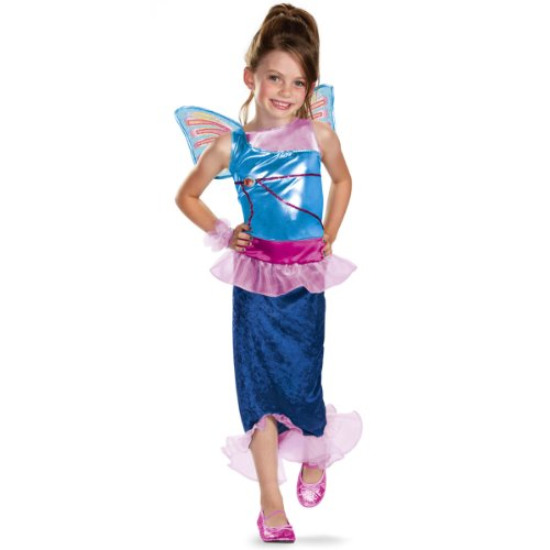 Winx Club Costumes - Disguise Girl's Winx Club Bloom Mermaid Classic Costume, 10-12