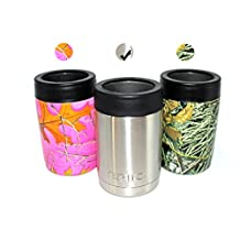 EPIC Chiller Cooler Cup - 12 oz Stainless Steel Double Wall Vacuum Insulated Koozie Can and bottle Cooler - as Cold as Yeti Colster - Thermos Beverage Insulator - Keeps drinks cold for hours