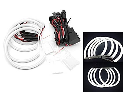 TMT LEDS(TM) Kit Cotton LED Angel Eyes Compatible con BMW E46 con ...