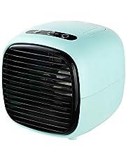M-GLT Mini Aire Acondicionado Ventiladores del refrigerador de Aire Ventilador de Mesa portátil USB para Oficina hogar Coche Dispositivo de refrigeración,Tiffany Blue,Ordinary