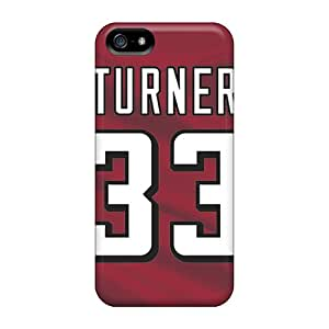 Shockproof Hard Cell-phone Cases For Iphone 5/5s With Allow Personal Design Realistic Atlanta Falcons Series JohnPrimeauMaurice