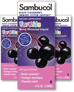 Sambucol Enfants Sirop, sureau noir, 4 onces
