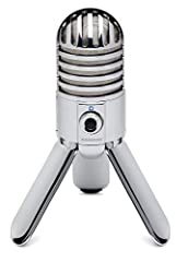 Meteor Mic USB Studio Condenser Microphone is the universal solution for recording at home or on the road. Perfect for your desktop studio, Meteor Mic gives you the classic sound quality of a large diaphragm studio condenser mic in a small po...