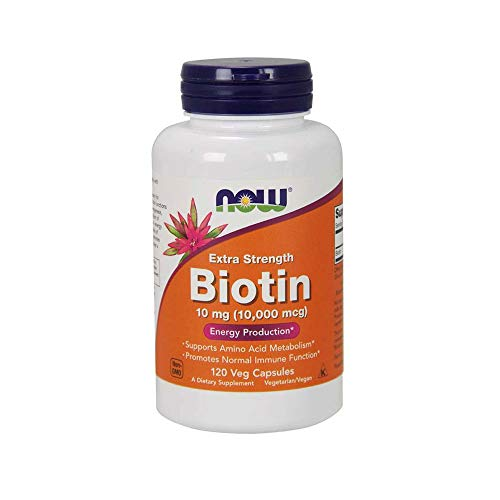 : Now Supplements, Biotin 10 mg (10,000 mcg), Extra Strength, Energy Production*, 120 Veg Capsules