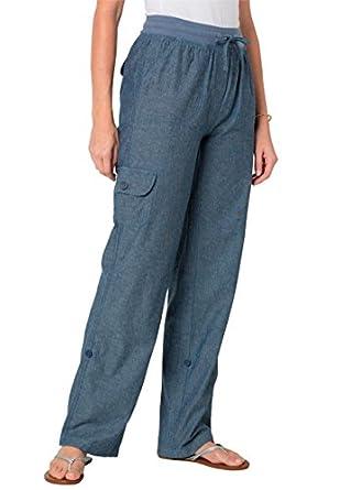Women 39 s plus size petite convertible cargo pants at amazon women s clothing store for Travel pants petite
