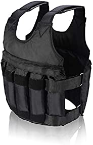 DEWIN Adjustable Weighted Vest - Weighted Vest, 50KG Max Loading Workout Exercise Training Adjustable Weighted