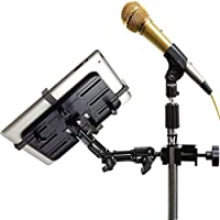 ChargerCity Rigid Aluminum Alloy Pole/Bar Clamp Mount for Orchestra Music Mic Microphone Stand Pole/Bar compatible w/Apple iPad Air Mini Pro Samsung Galaxy Tab Microsoft Surface
