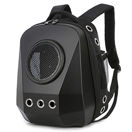HBuir Innovative Diamond Traveler Pet Carrier Shoulder Backpack (Frosted Black2)