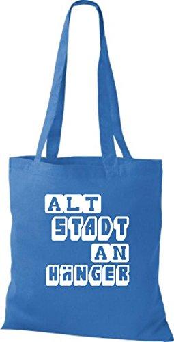 Para De Algodón Bolso Azulón Azul Mujer Shirtstown Tela IfqF6