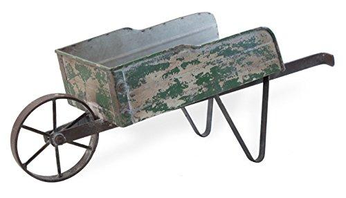 Boston International HHC18435 Decorative Garden Wheelbarrow, Small, Green - Decorative Wheelbarrow