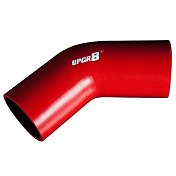 Upgr8 Universal 4-Ply High Performance 45 Degree Elbow Coupler Silicone Hose 76MM , Black 3.0