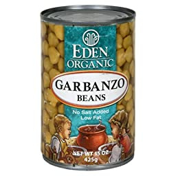 Eden Foods Garbanzos Beans Can 15 Oz (Pack of 12)