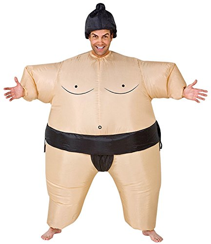 Inflatable Sumo Wrestling Costumes (JOKHOO Inflatable Adult and Kids Sumo Wrestler Wrestling Suits Halloween Costume (Adult))