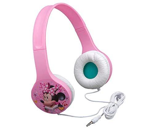 Minnie Mouse Kid Friendly Headphones with Kids Friendly Volume to Protect Hearing -