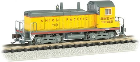 Dcc Union (Bachmann Industries #9155 EMD NW-2 Switcher Locomotive DCC Equipped Union Pacific Train Car, N Scale)