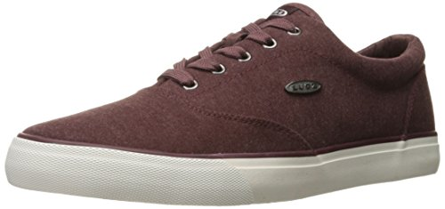 Lugz Mens Seabrook Fashion Sneaker Bordeaux Rood / Wit