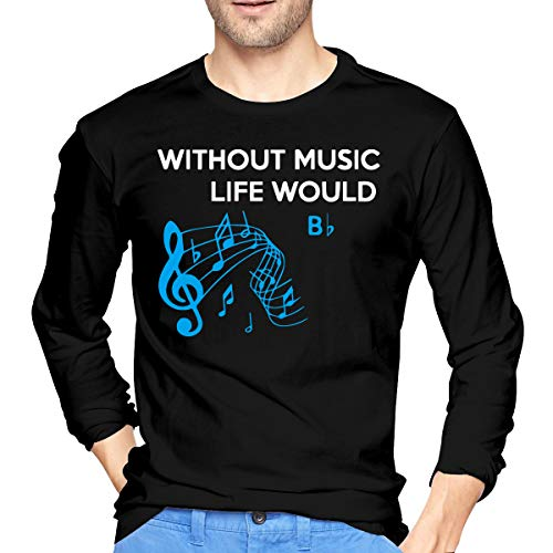 Men's Long Sleeve 100% Cotton T-Shirts, Casual Without