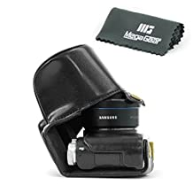 """MegaGear """"Ever Ready"""" Protective Leather Camera Case, Bag for Samsung NX3000 with 20-50mm Lens (Black)"""