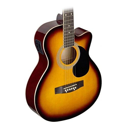 Stagg SA20ACE SNB Auditorium Cutaway Acoustic-Electric Guitar - Sunburst