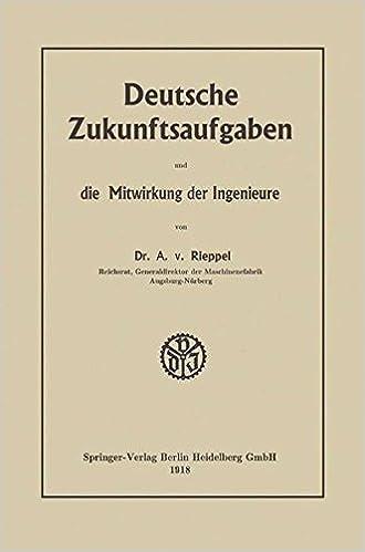 Book Deutsche Zukunftsaufgaben und die Mitwirkung der Ingenieure