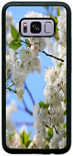 Cherry Tree Leaves - Rikki Knight Wild Cherry Blossom Tree Leaves Design Cell Phone Case for Samsung Galaxy S8 Plus - Black