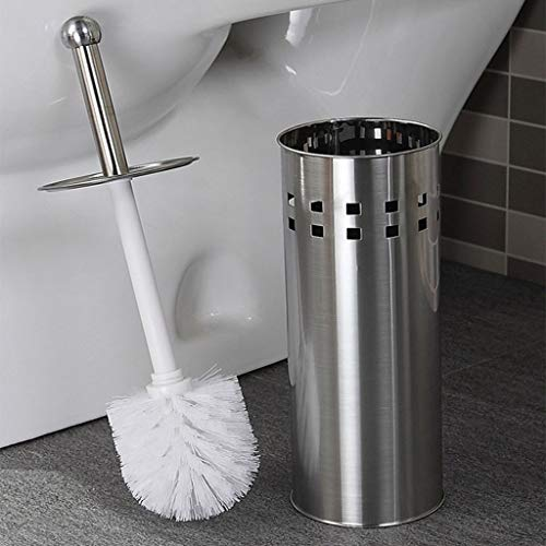 - Gotian Stainless Steel Bathroom Toilet Cleaning Brush and Holder Free Standing Set Essential Modern Practical Toilet Brush Holder Keep Bathroom Tidy and Hygienic