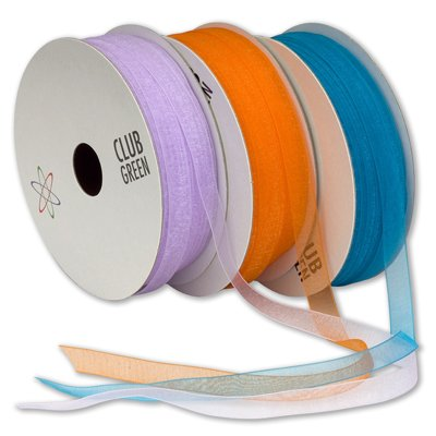 Edge Woven 10 Mm - 10mm Copper Woven Edge Organza Ribbon for Crafts - 25m