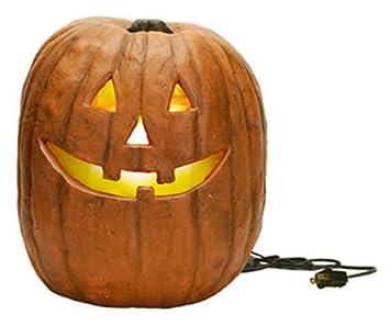 primitives by kathy carved lighted jack olantern halloween decor large - Primitives By Kathy Halloween