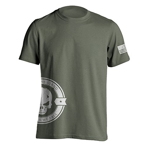 (Dion Wear United We Stand Military Sniper Skull T-Shirt X-Large Mlitary Green)