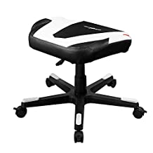 DXRACER FR/FX0/NW Newedge Edition Adjustable Storage Ottoman Footstool Chair Gaming Seat Pouf Furniture (Black/White)