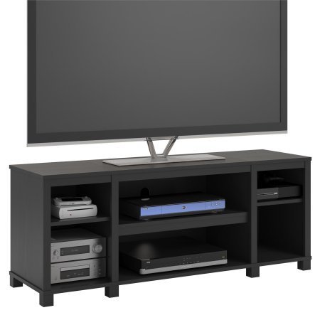 Mainstays Parsons Cubby TV Stand Holds Up to 50'' TV - Black Oak