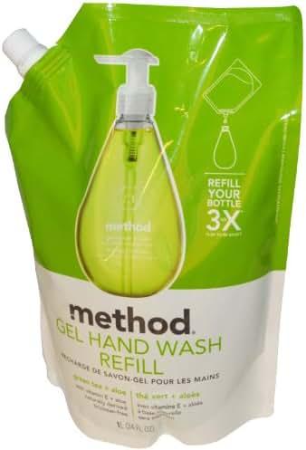 Method 00651 34 Oz Green Tea Plus Aloe Gel Hand Wash Refill