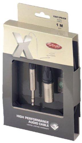 クワガタ3フィート。 Xシリーズオーディオケーブル - XLRオス/電話プラグ B00824HJNM