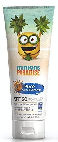 Pure Sun Defense Minions Paradise Sunscreen Lotion SPF 50, 8 oz