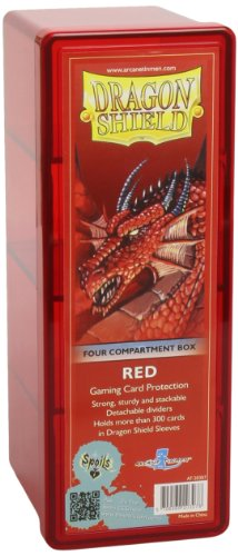 Dragon Shield Four-Compartment Storage Box - Red