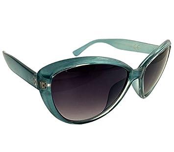 Dasoon vision Gafas de Sol Redondeadas de Pasta Turquesa UV ...
