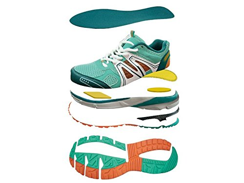 White Womens ADF Shoes Running with Crivit Shoes Orange System Air 37 nbsp;Color Dynamic Flow Circulation Air Walking Size Turquoise 1w8wH4qR