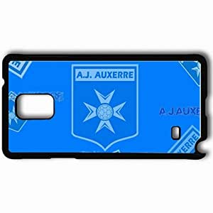 Personalized Samsung Note 4 Cell phone Case/Cover Skin AJA Ligue 1 0809 Auxerre Football Black by supermalls