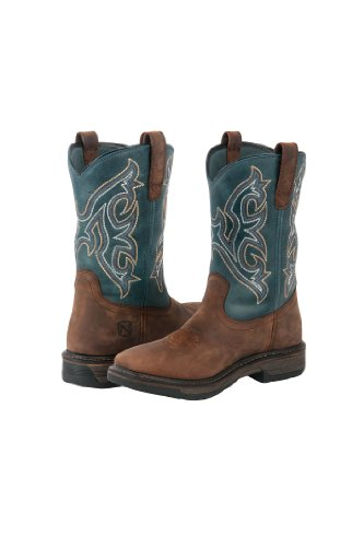 Noble Outfitters Ranch Tough Boots - Mens Square Toe - Size:7 Regular Color:Smok
