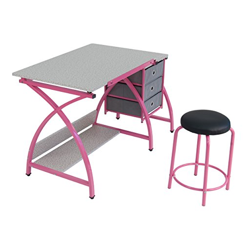 Comet Center with Stool in Pink / Spatter Gray by SD Studio Designs (Image #1)