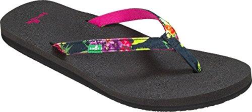 Sanuk Womens Yoga Joy Amazon Sandal Black Tropic Amazon Size 9