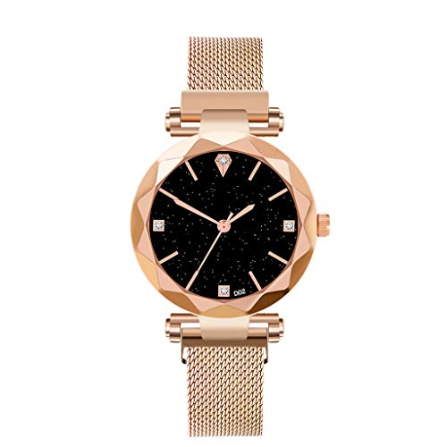 LUXISDE Watch Women Women Watches Minimalism Starry Sky Magnet Buckle Casual Female Wristwatch Gold