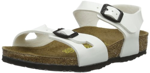 Birkenstock Rio Unisex-child white Birko-Flor Sandals 32 EU (1-1.5 N US Little Kid) by Birkenstock