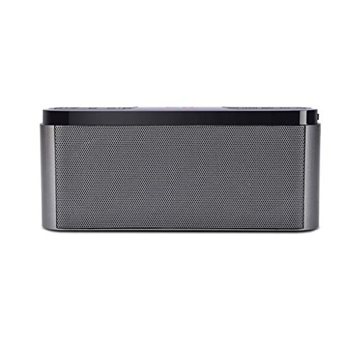 Portable Wireless Radio Speaker Rechargeable Player 12 Hours Playback Time Bluetooth 4.1 (Color : Gray)