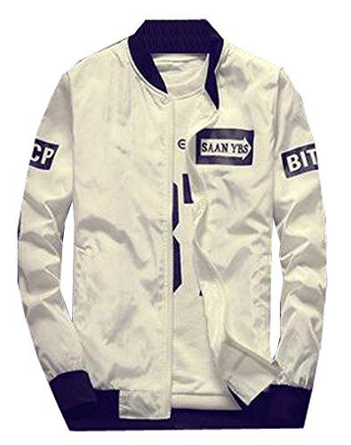 Generic Mens Fashion Korean Printed Baseball Bomber Loose Jacket 6 M