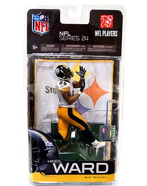 McFarlane Toys NFL Sports Picks Series 24 Action Figure Hines Ward (Pittsburgh Steelers) White Jersey Yellow Pants Classic Collector Level