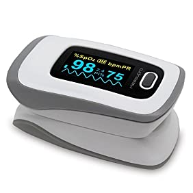 MeasuPro Instant Read Digital Pulse Oximeter, Oxygen Sensor and Pulse Rate Monitor with Alarm Setting, Color OLED Display and Carry Case, CE, FDA Approved