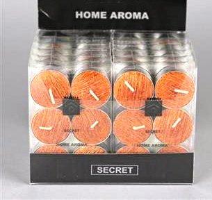 ARQITECTURE 6Candele Tealight, aroma: Secret Rasteli