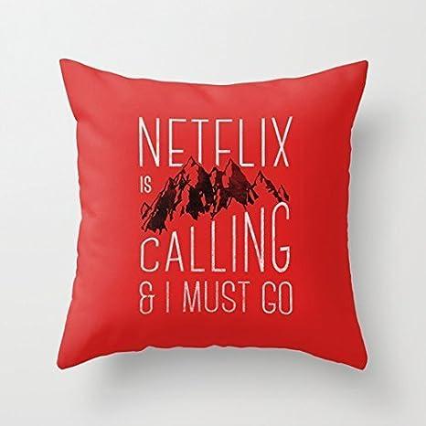 Amazon.com: Netflix Llama Manta Decorativa Funda de almohada ...